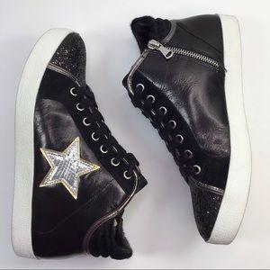 STEVE MADDEN Savior Black Silver High Top Sneaker